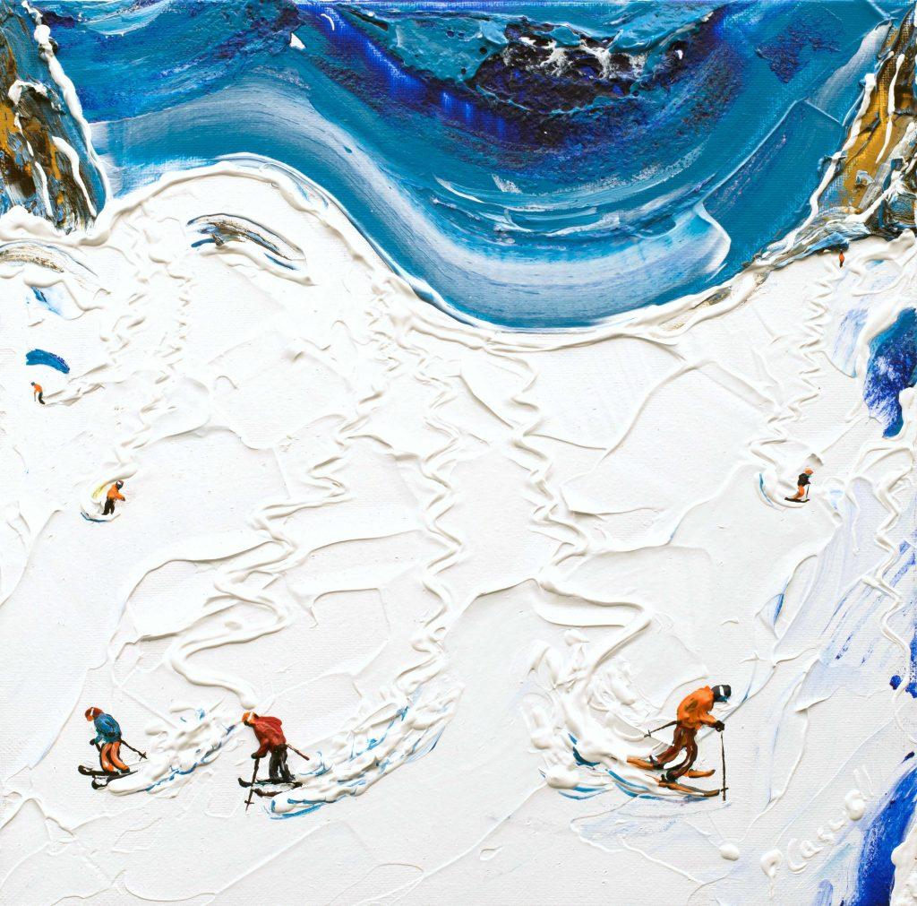 St Anton Ski Painting Off Piste