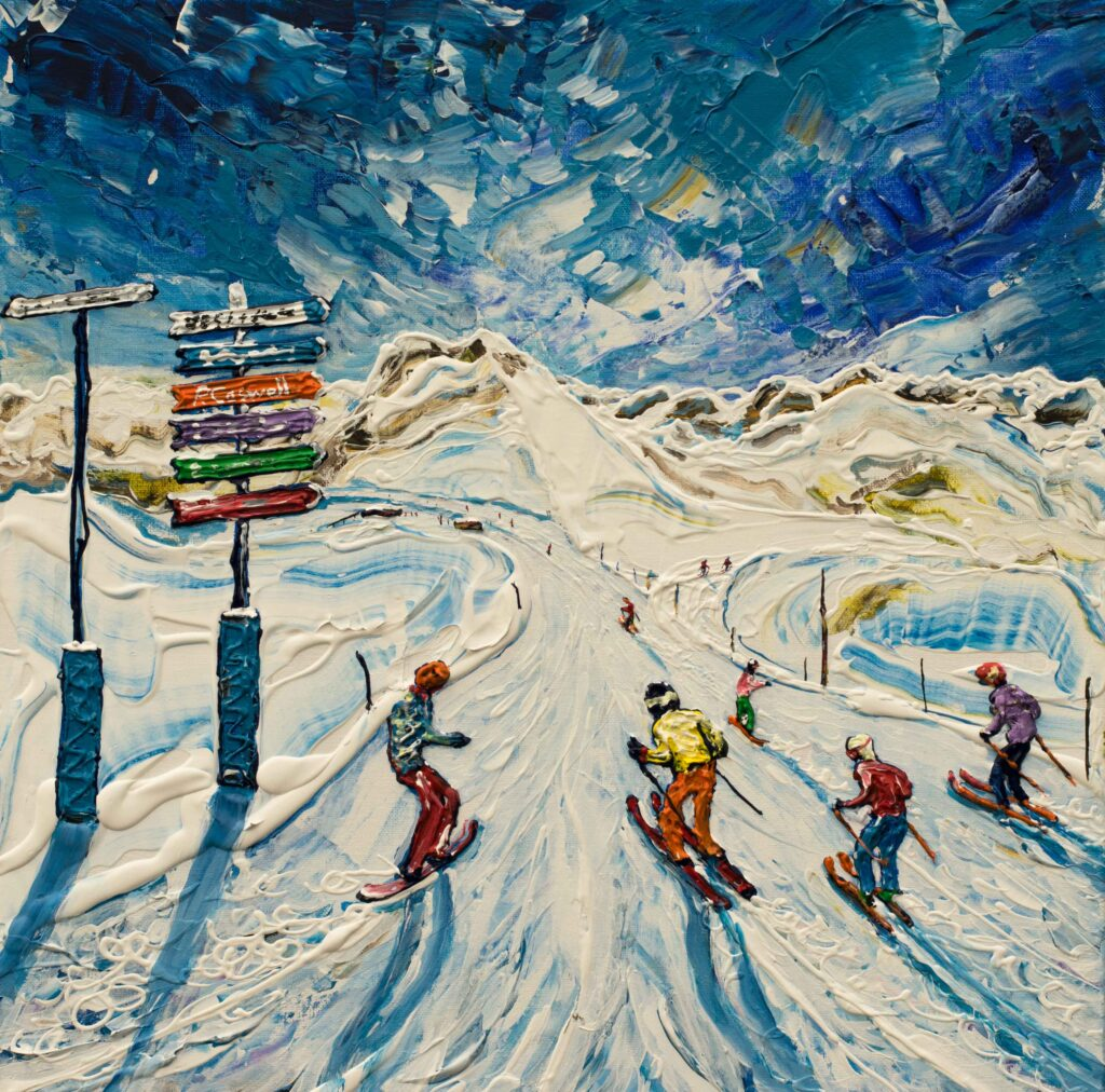 Flaine Grand Massif Ski Painting