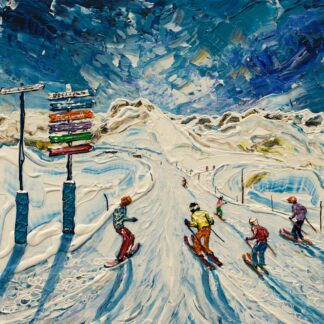 Flaine Grand Massif Ski Painting