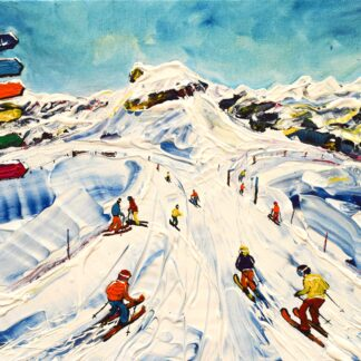 Flaine Ski Painting