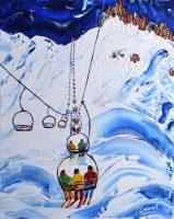 Tignes Val d'Isere Ski Prints