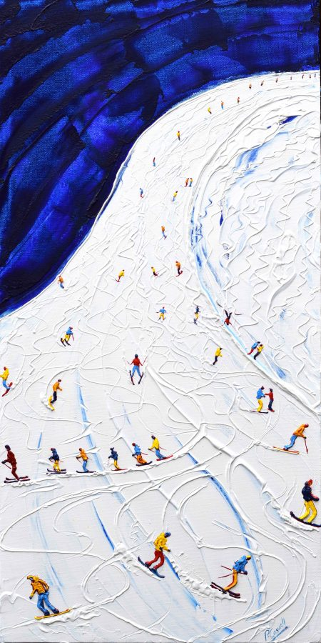 Tignes and Val d'Isere Skiing and Snowboarding Painting