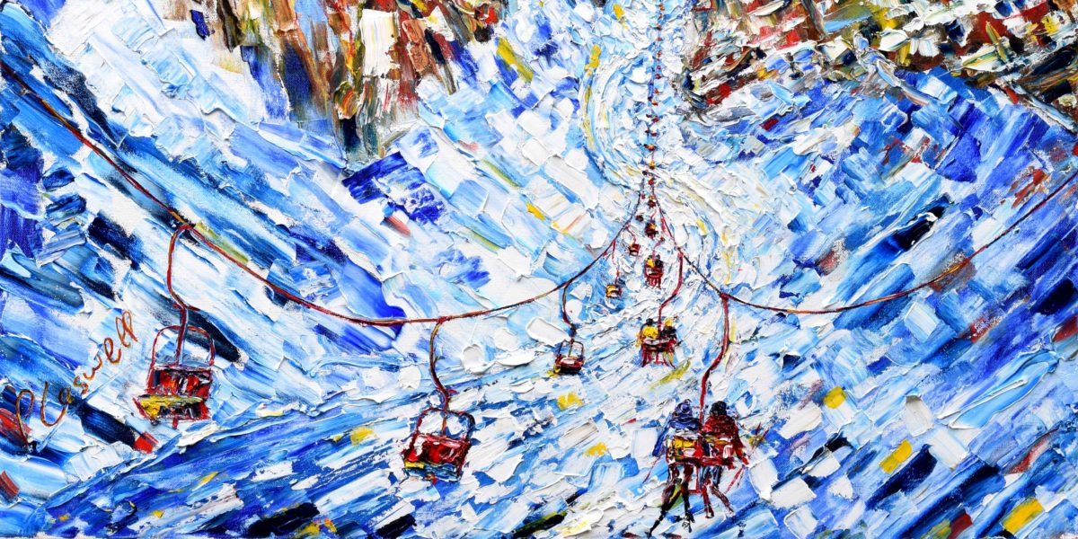 Cortina Dolomites Ski Print