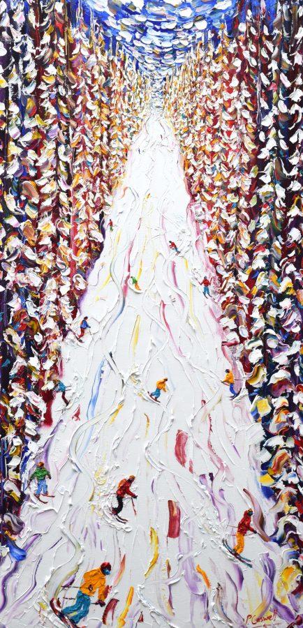 Morzine Skiing Painting