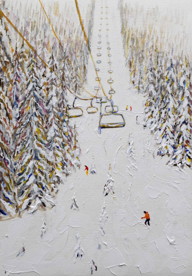 Grande Massif Flaine skiing Painting