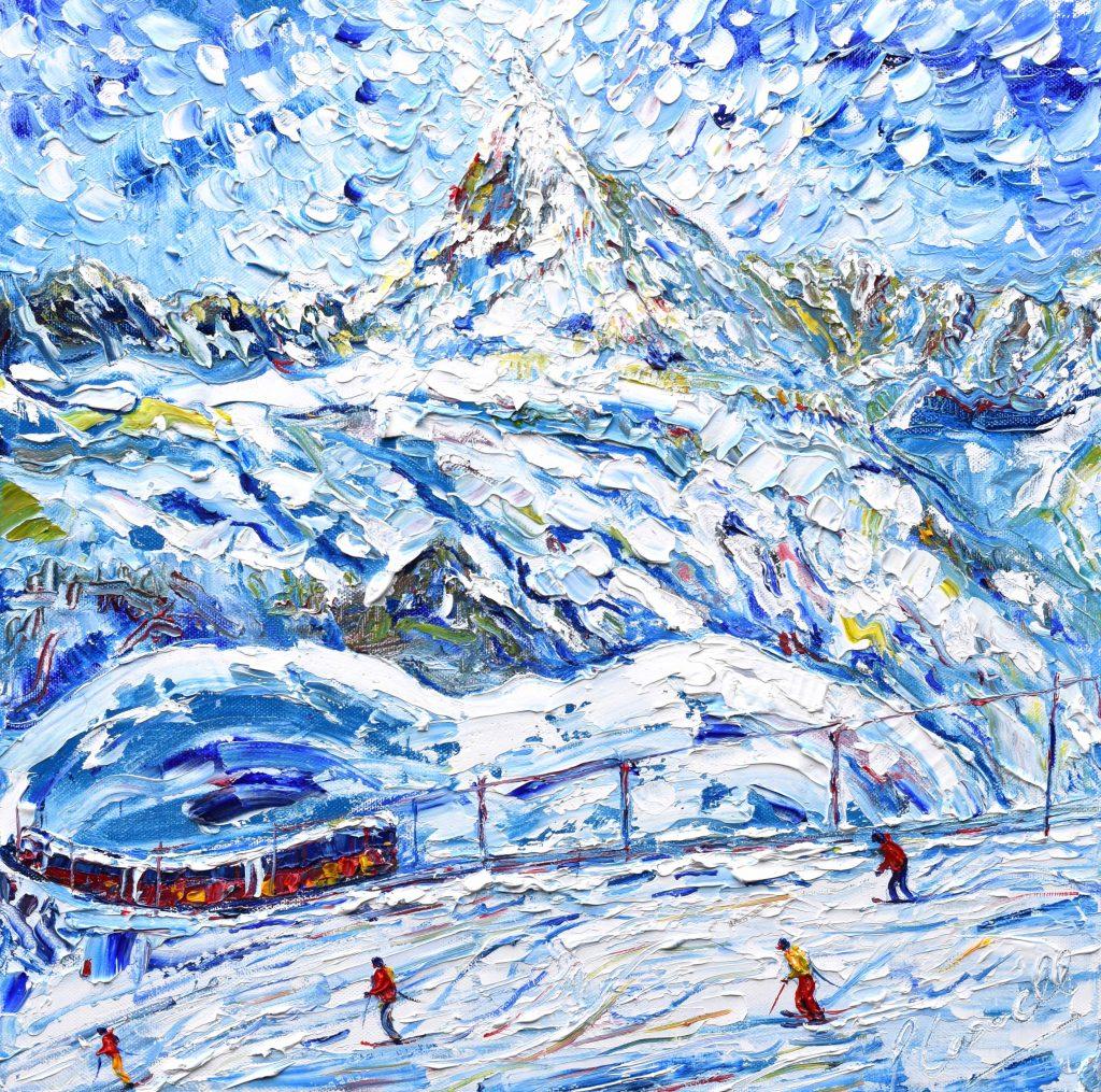 Zermatt Ski Prints