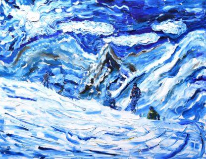 Tignes Val d'Isere Ski Painting