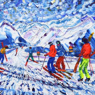 Mt Fort Verbier Skiing Painting