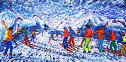Mt Fort Verbier Skiing Painting