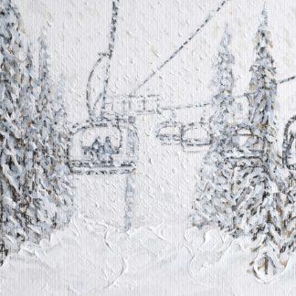 Grand Massif Ski Painting and Print