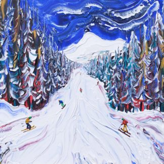 morzine ski painting ski print