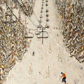 Grand Massif Flaine Snowboard Painting