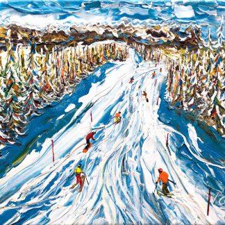 Megeve Ski Painting