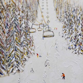 Grand Massif Flaine Ski Painting