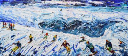 La Plagne ski painting and ski print