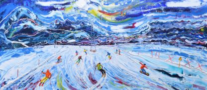 La Plagne Ski painting print