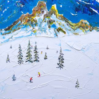 Meribel off piste painting