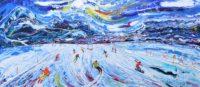 Verbier ski paintings