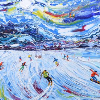 Verbier ski paintings