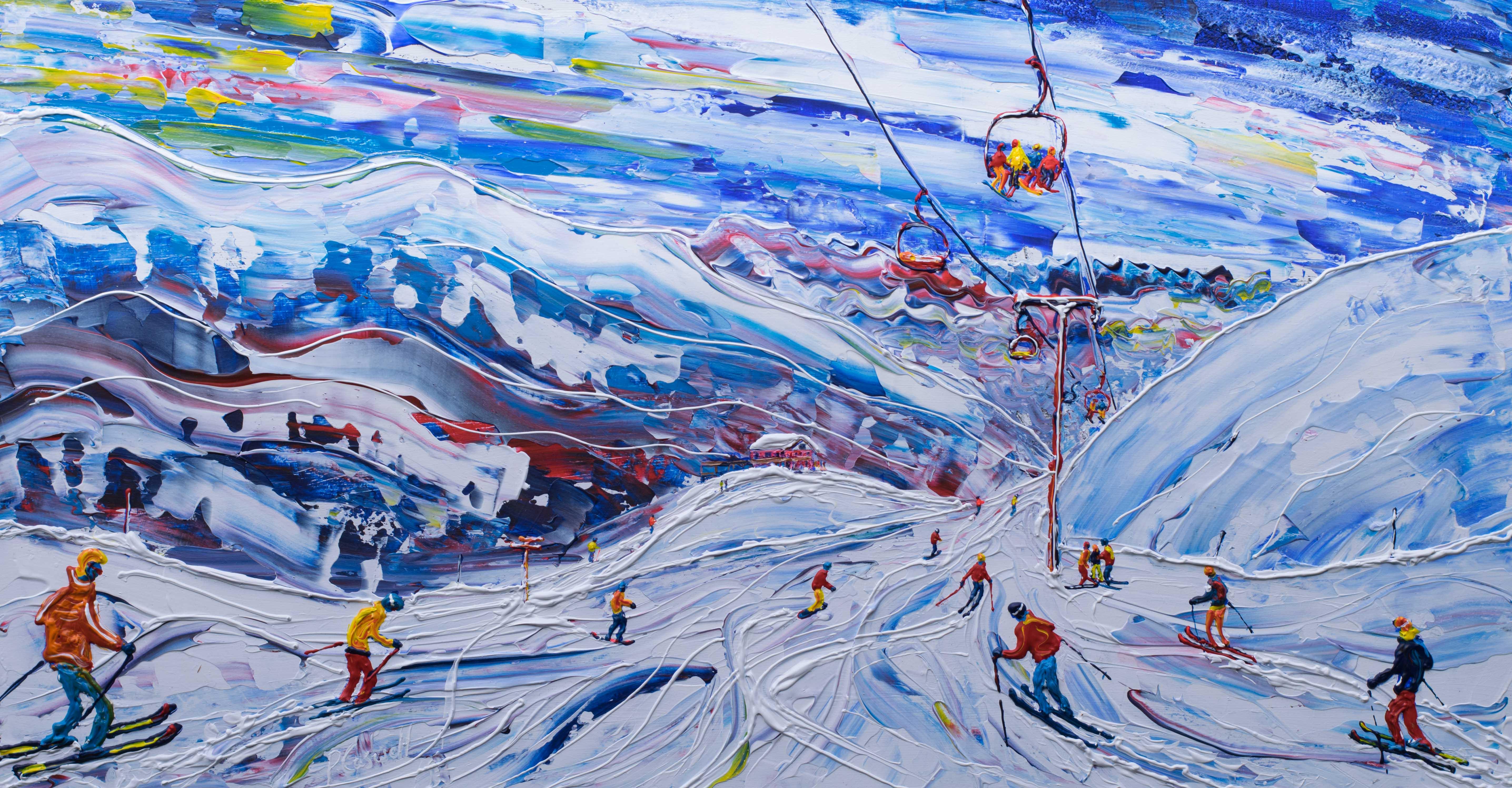 Val Thorens ski painting