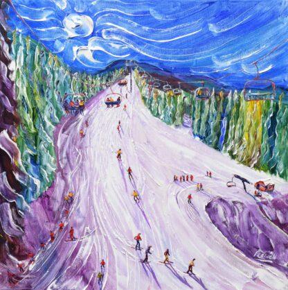 Morzine Ski Piste Painting