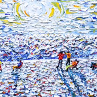 Val Thorens Skiing and Snowboarding Painting