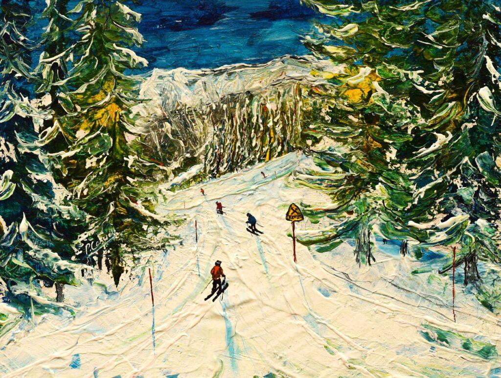 Megeve Ski Print