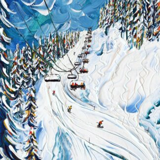 Morzine Les Gets Ski Painting