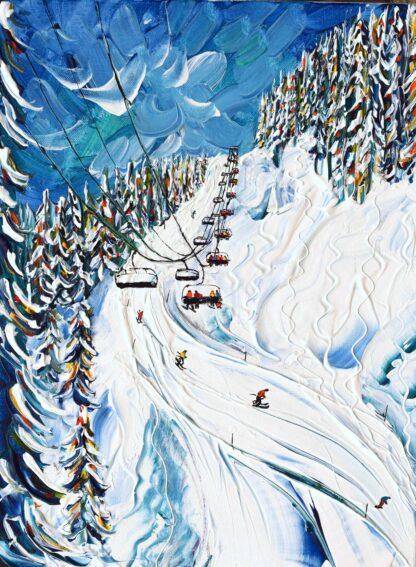 Morzine Les Gets Ski Painting