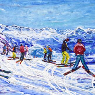 Morzine Les Gets Ski Painting and Ski Print