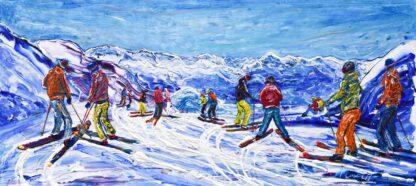 Morzine Les Gets Ski Painting and Ski Print