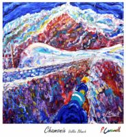 Chamonix Vintage Ski Poster