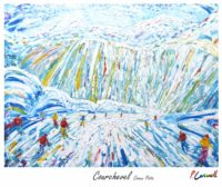 Courchevel Vintage Ski Poster