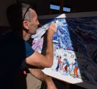 Ski Paintings and Ski Prints by Pete Caswell