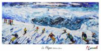 La Plagne Vintage Ski Poster