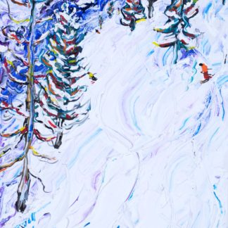 Zermatt Matterhorn ski painting and ski prints