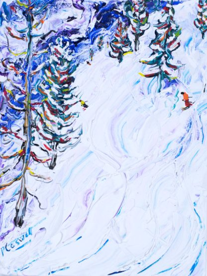 Zermatt Matterhorn ski painting and ski prints