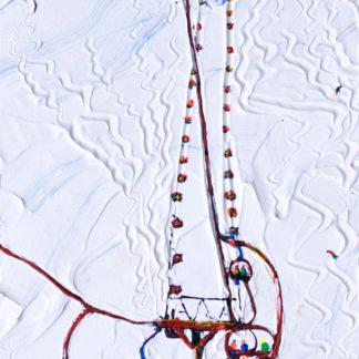Morzine Avoriaz Skiing painting Ski Print