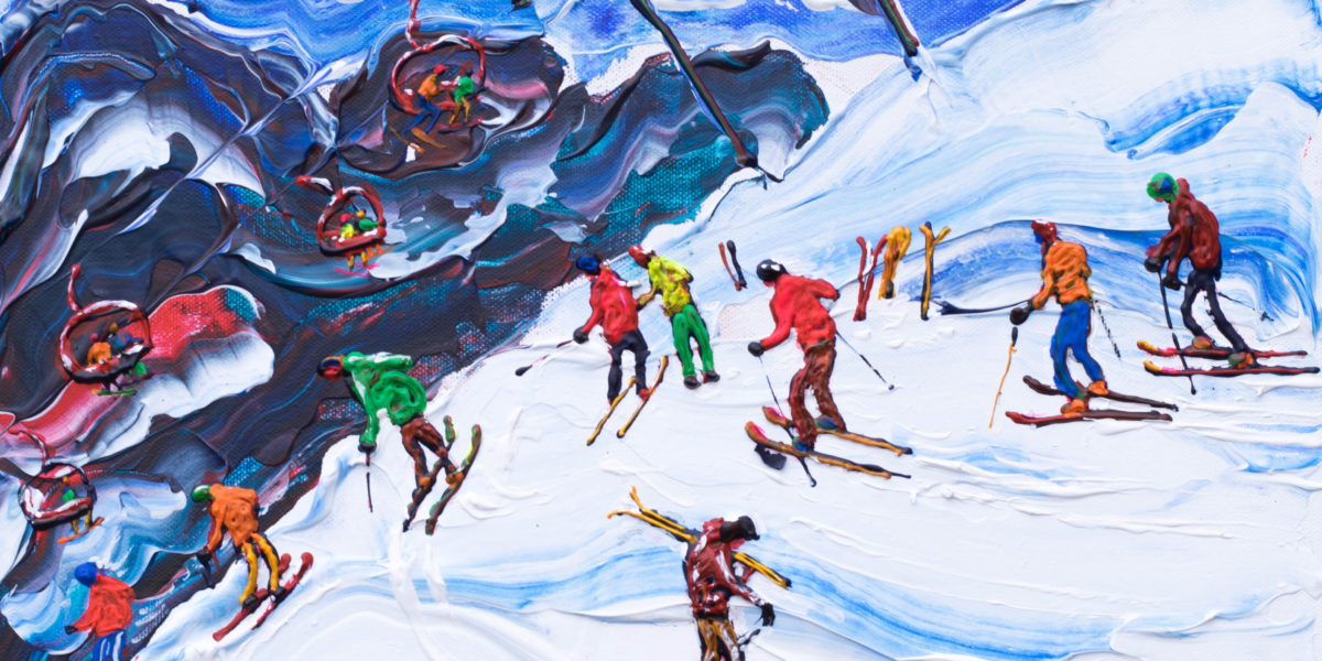 Swiss Wall Avoriaz Morzine ski painting and ski prints