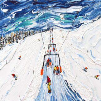 Portes du Soleil Ski Snowboard Vintage Ski Poster