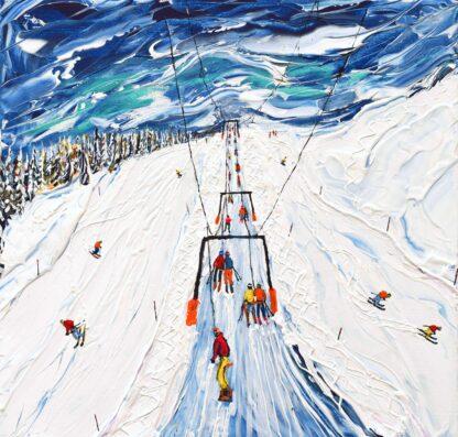 Portes du Soleil Ski Painting Ski Print