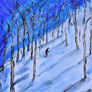Aspen Ski Painting
