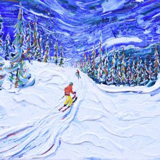 Whistler Ski Print and Painting