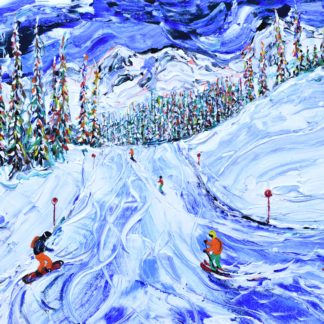 Whistler Skiing Painting