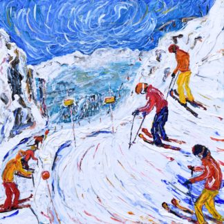 Whistler Blackcomb Ski Painting
