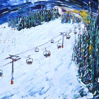 Beaver Creek Skiing Painting