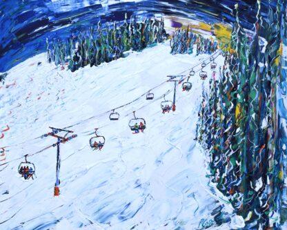 Beaver Creek Skiing Painting
