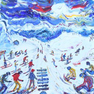 Whistler Blackcomb Ski Painting