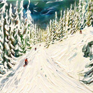 Whistler Ski Painting and Ski Print