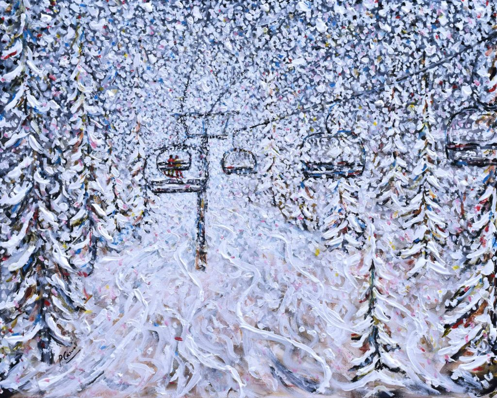 Vail Ski Painting Chair 22